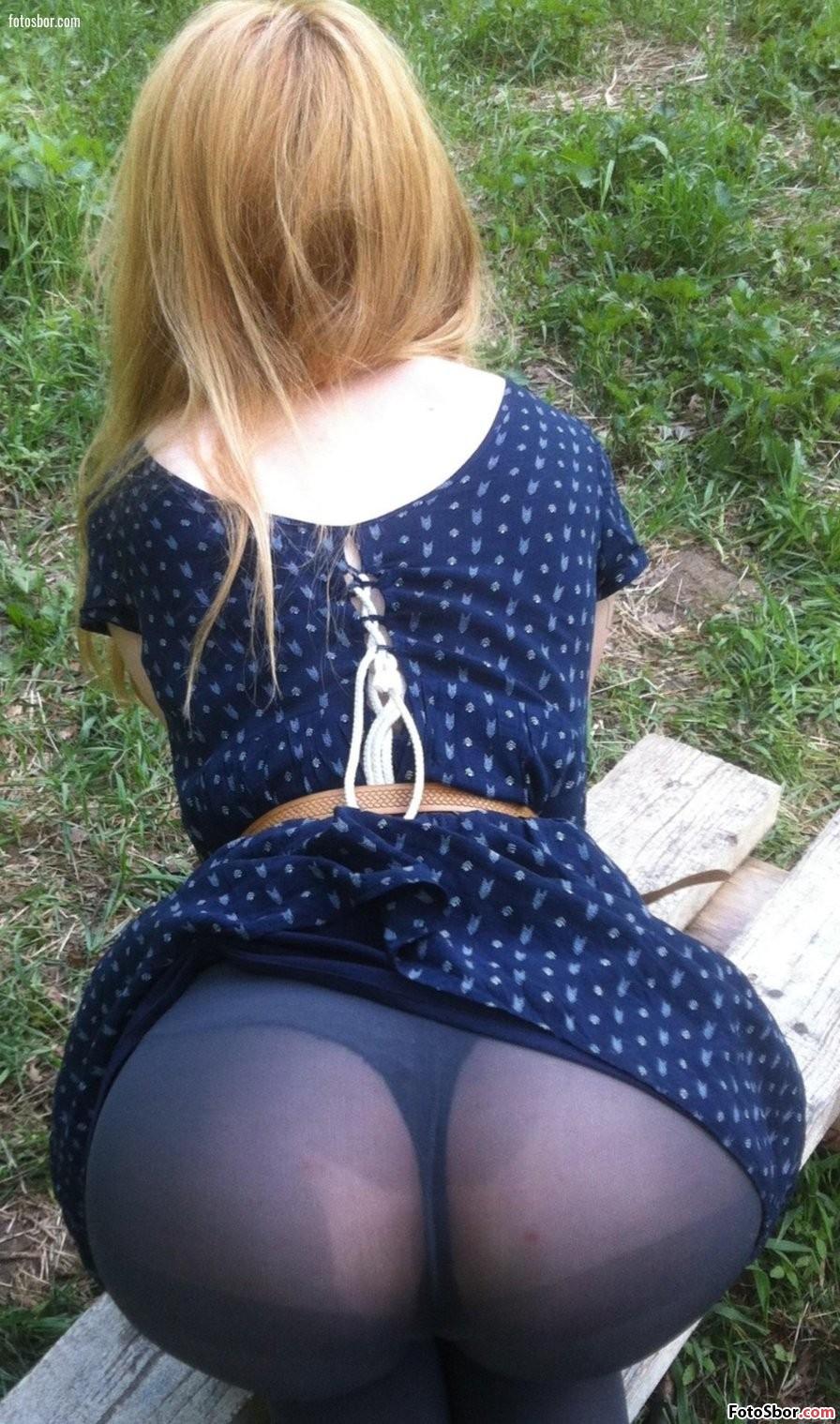 Порно В Платье Капронках